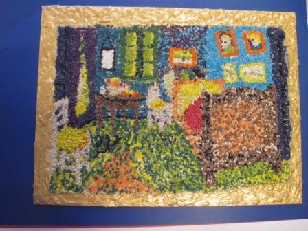 17. Copia de La stanza di V.Van Gogh. Mosaico su pannello in legno 50x70