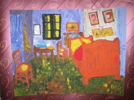 18. Copia de La stanza di V.Van Gogh. Tecnica espressionista a pennellate 72x55cm
