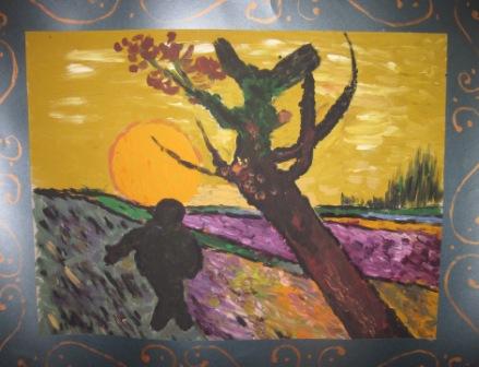 19. Copia de Il seminatore di V. Van Gogh 71x54cm