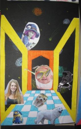 9. Esempio 3 di stanza in prospettiva realizzata con tecnica Surrealista